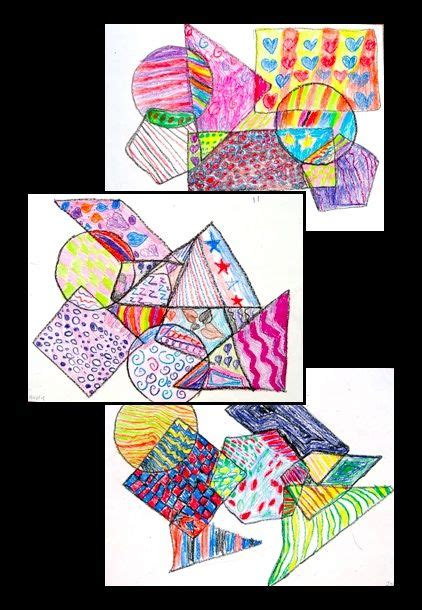 shape pattern interactive pattern a shape no prep art lesson perfect for
