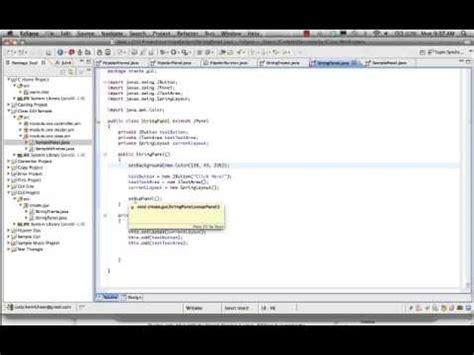 java swing eclipse tutorial 11 tutorial swing en java con eclipse con windowbuilder
