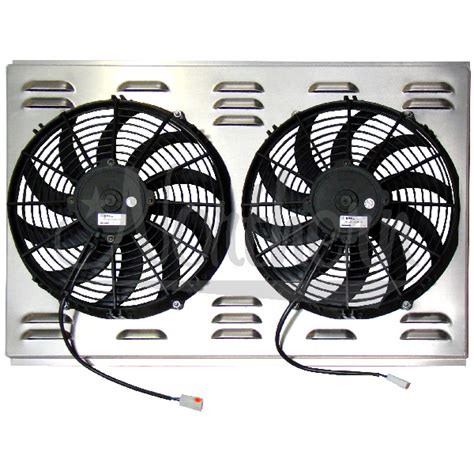 dual electric fans with shroud northern factory dual 12 quot electric fan shroud 17 5 8