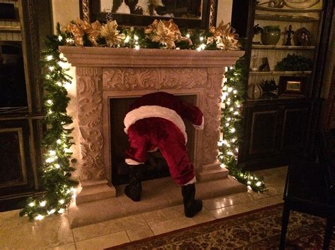 Coming Out Of Fireplace by Merry To All From The Matheson Team