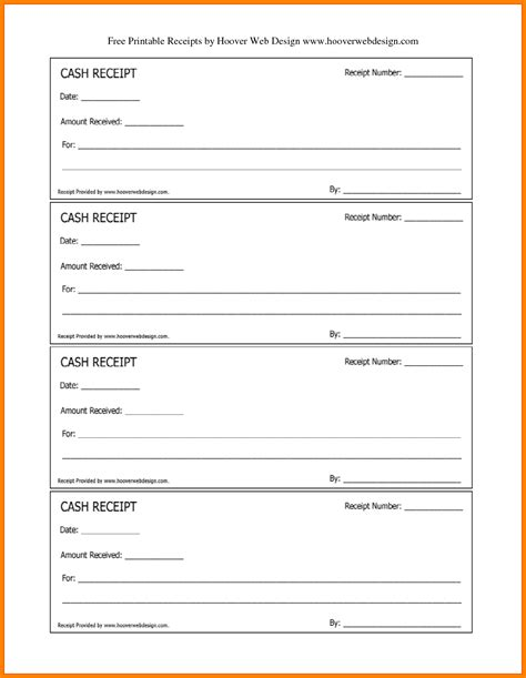 28 receipt book template free receipt book template