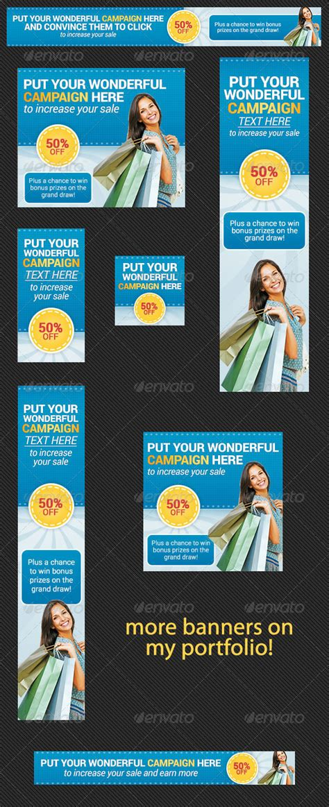 free html templates for advertising web banner ad template for online shopping caign