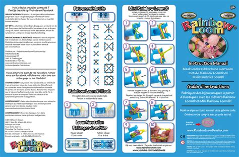 printable rainbow loom directions rainbow loom europe