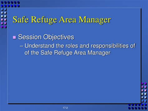 ppt chapter 17 safe refuge area manager powerpoint presentation id 747385