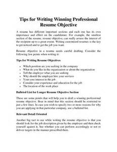 exles of resumes resume template write objective
