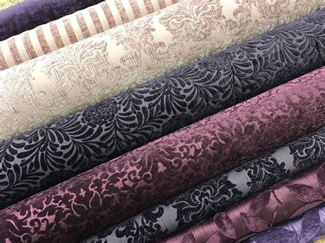 upholstery fabric ebay designer heavyweight purple pink velvet chenille curtain