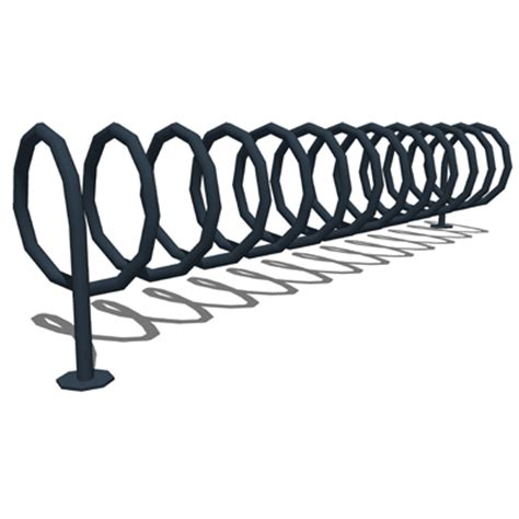 Modified Bicycle Rack by Canterbury Modified Spiral Bike Rack 3d Model Formfonts