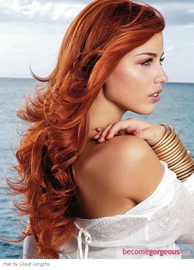 pictures long hairstyles super long red hair style