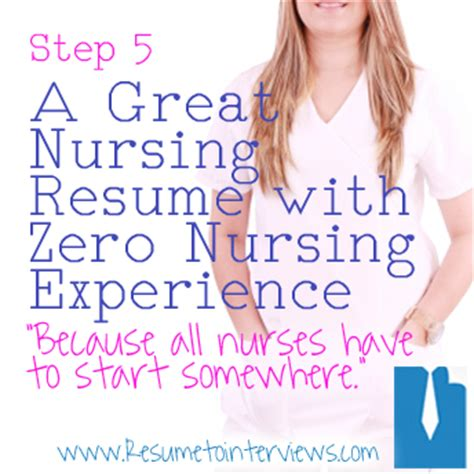Nursing Student Resume With No Experience by Create An Effective Resume In Five Easy Steps