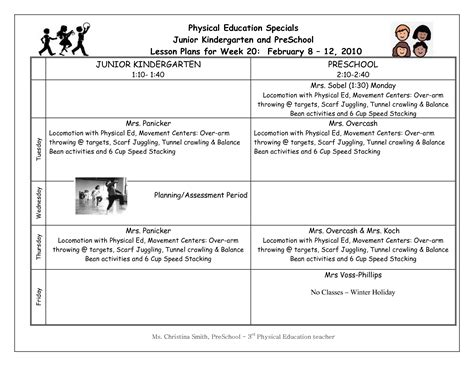sle elementary lesson plan template pe lesson plan template by tchrbrowne teachers pay