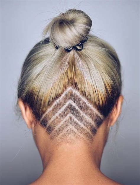 undercut hairstyle women long hair 1000 ideas about nape 45 undercut hairstyles with hair tattoos for women