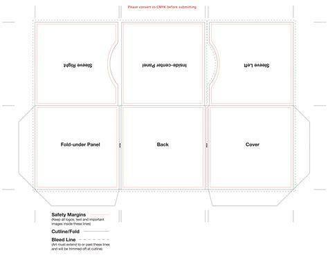foldable cd sleeve template 6 panel cardboard sleeve template for cd duplication