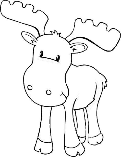 moose baby moose coloring page preschool pinterest