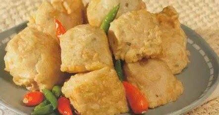 membuat tahu goreng crispy isi ayam  sayur resep