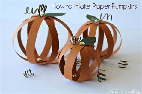 How To Make 3d Pumpkin Out Of Paper - tutorial how to make paper pumpkins scrap booking