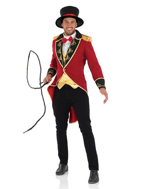 mens ringmaster costume deluxe mens ringmaster costume lion tamer tailcoat top hat