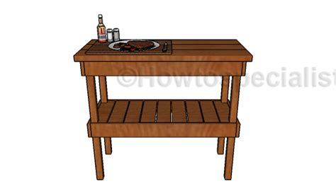 wooden bbq table plans howtospecialist how to build step by step diy plans