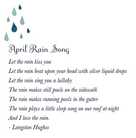 quote langston hughes theme rain let the rain kiss you langston hughes verbosity pinterest poem poet and