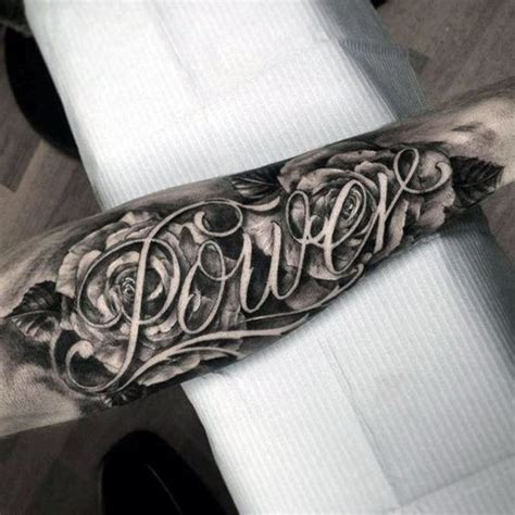 word tattoo designs for men 50 last name tattoos for honorable ink ideas