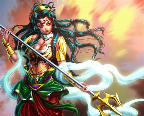 wallpaper cartoon durga goddess durga concept by xong on deviantart