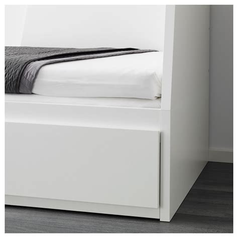 White Bed Frame With Drawers Flekke Day Bed Frame With 2 Drawers White 80x200 Cm Ikea