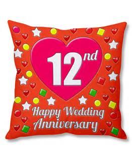 Wedding Flowers Bulk 12th Happy Wedding Anniversary Multi Colour Printed Cushion Cover Buy Online From Shopclues Com