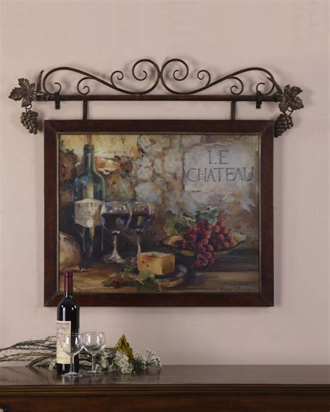 country wall decor large wine le chateau tuscan country wall decor ebay
