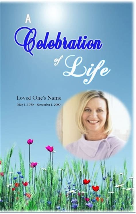 The Funeral Memorial Program Blog Free Funeral Program Template Download For Microsoft Word Celebration Of Cards Templates Free