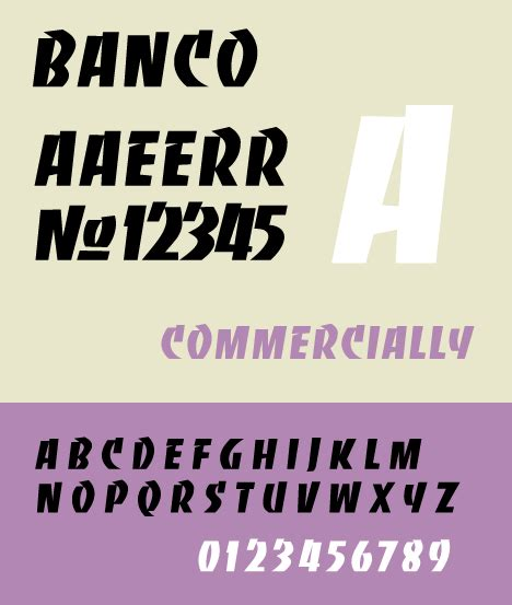 Banco Font by Banco Lettertype