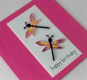 paper cards quilled dragonflies