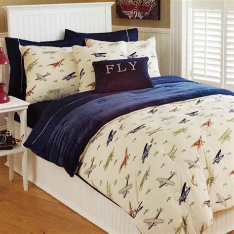 vintage airplane comforter set airplane room ideas
