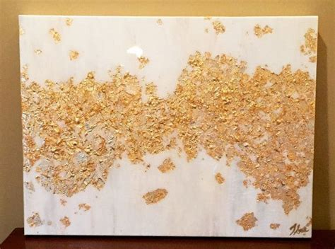 how many coats of acrylic paint on canvas gold leaf and white acrylic abstract painting with high