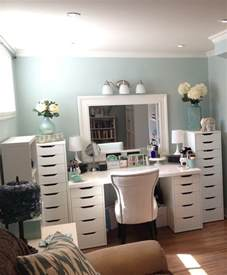 Makeup Vanity With Big Drawers Makeup Organization Eas With Large Drawer And White Color