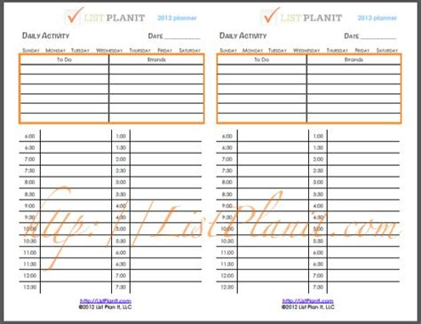 daily activity planner template daily activity planner version family binder