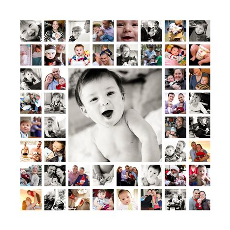 baby s year collage templates 20x20 photo collage design print ready flattened