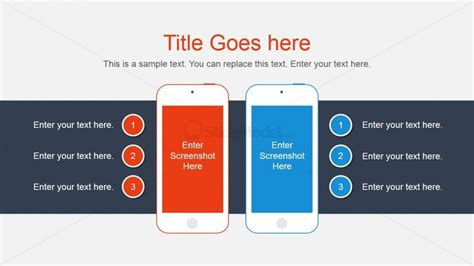 Smartphone Vector Comparison Slide For Powerpoint Slidemodel Powerpoint Comparison Template
