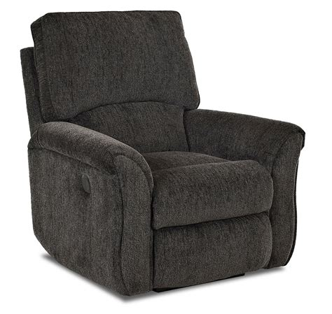 transitional reclining chair with pillow top flared