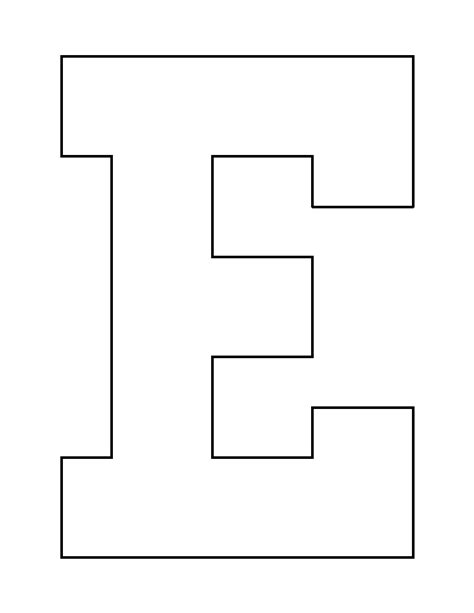 letter a pattern use the printable outline for crafts letter e pattern use the printable outline for crafts