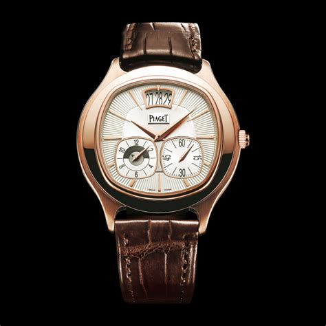 gold dual time zone g0a32017 piaget luxury
