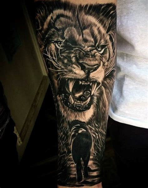 simple lion tattoo designs 85 tattoos for a jungle of big cat designs