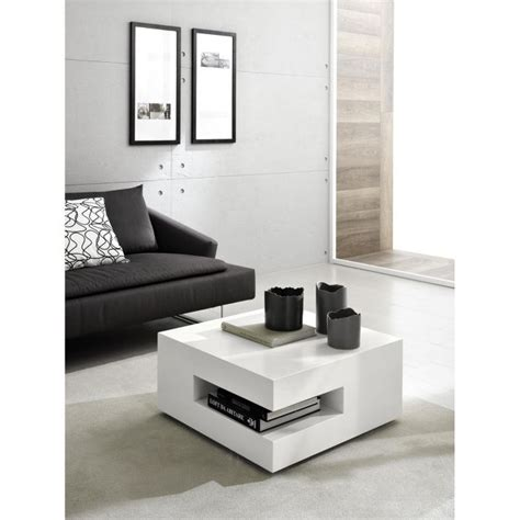 Decoration Table Basse by Table Basse Design Square Laque Blanc Deco Achat