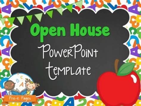 open house powerpoint template school theme open house powerpoint pre k pages
