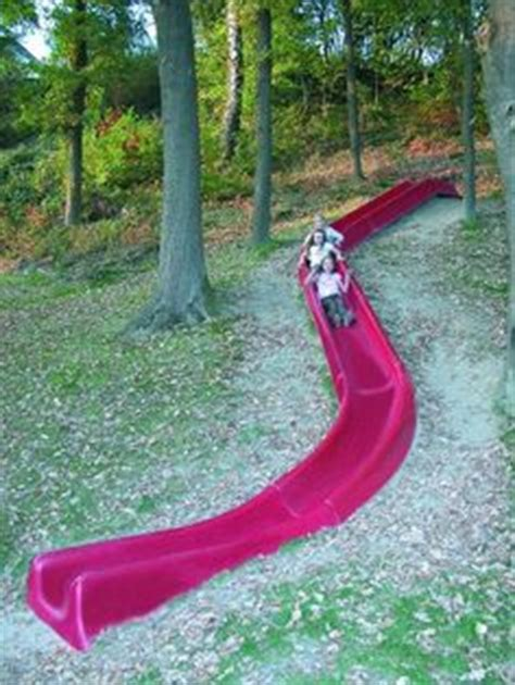 diy make a slide in the hill side or yard easy fun for