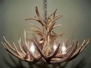 mule deer antler chandelier for the home