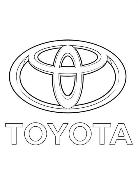 cars logo coloring pages toyota coloring page coloring pages