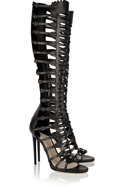 Highheels Gladiator black gladiator high heels is heel