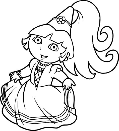 best beautiful princess dora the explorer coloring pages