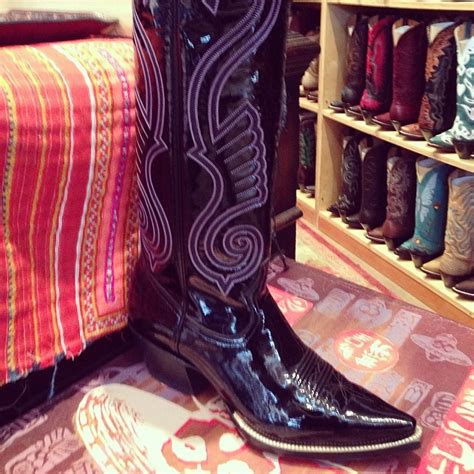 Hell Boot Coboy Black patent leather cowboy boots