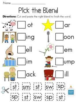 Diskon Sk Grade Paste Compound S Blends Worksheets Pack By Miss Giraffe Teachers Pay