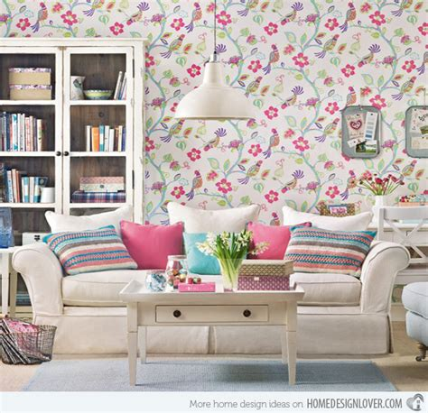 living room decorating ideas for living rooms flower vase coffee 15 living room with floral wallpapers home design lover